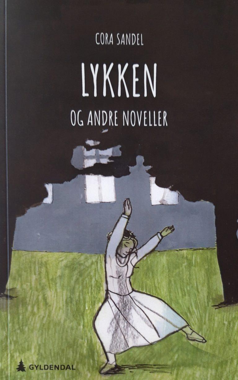 Tecknat bokomslag- En dansande ung kvinna under skuggan av stora träd